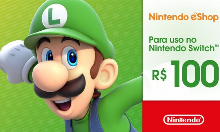 Brazil accepts prepaid gift cards for Nintendo eShop Switch.  sport