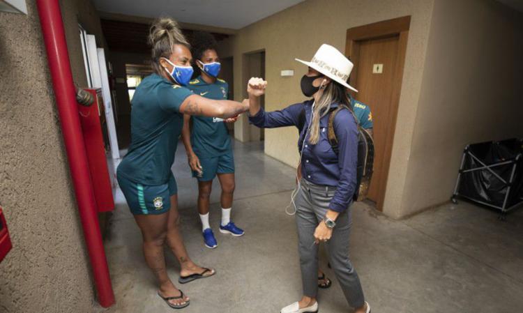 Piya Sundage works in Team Viamão (RS).  Photo: Lucas Figueiredo |  CBF - Photo: Lucas Figueredo |  CBF