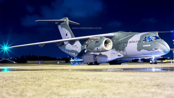 FAB KC-390 Jet - to participate in military exercises in the United States using contact radar