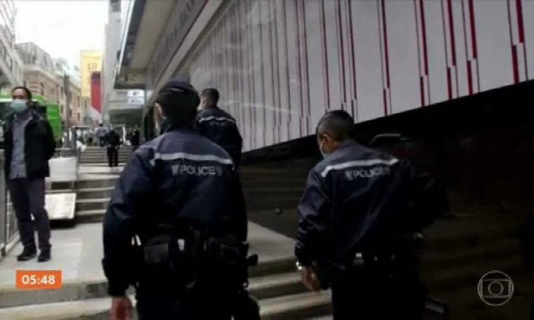 About 50 opponents have been arrested in Hong Kong under the National Security Act.