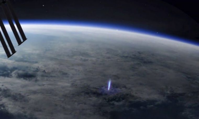'Blue Jets' seen by the International Space Station