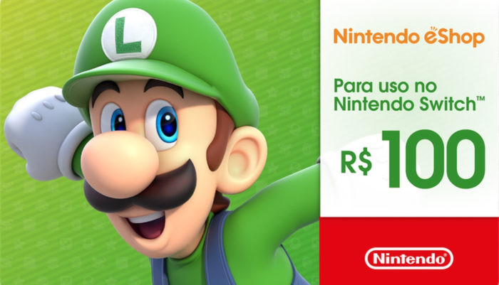 Gift Card with R $ 100 for eShop (Image: Promotions / Nintendo)
