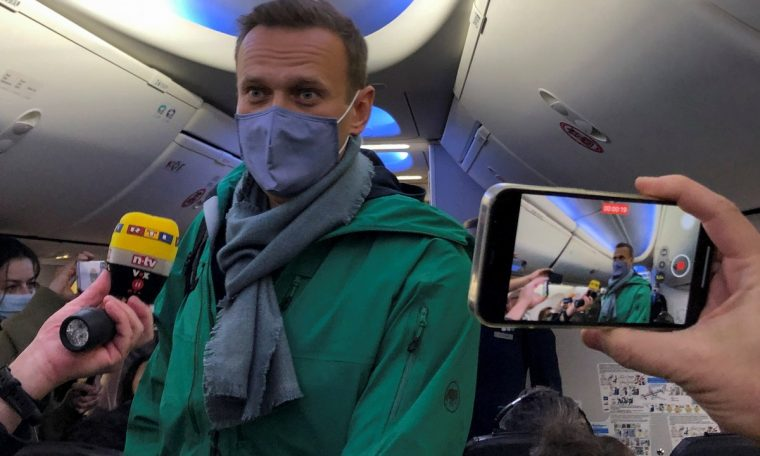 Russian police arrested rival Alexey Navalny at Moscow airport