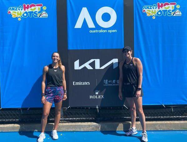 Tennis player Louisa Stephanie performs first training in Australia since quarantine debut