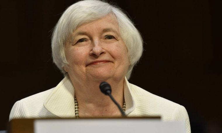 The US Senate confirmed, and Janet Yellen will be the Treasury's first female secretary