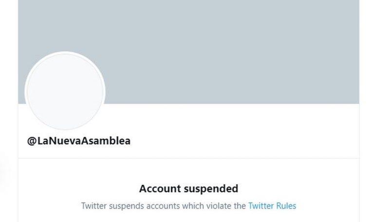 Twitter suspends account of new Venezuela Congress Technology