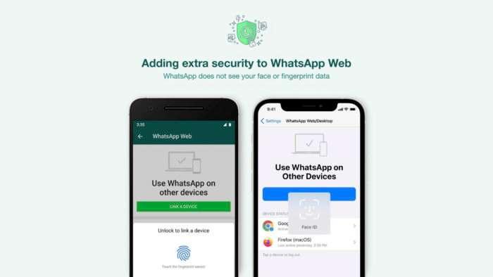 WhatsApp Web requires biometrics to free up functionality on computer - Daniel Praciano
