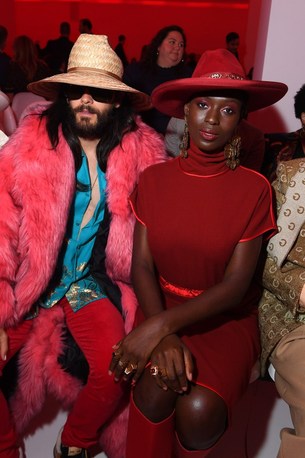 Jared Leto and Jodi Turner-Smith participate in the Gucci show during Milan Fashion Week, Spring / Summer 2020.  (Photo: Getty Images)