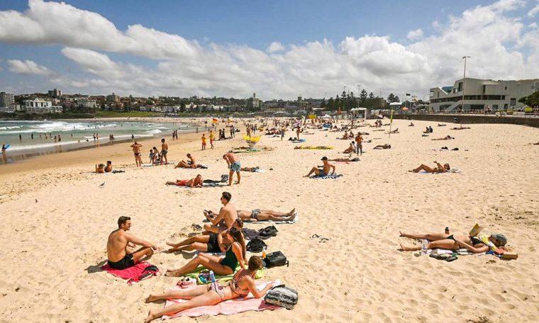 praia de Sydney, na Austrália