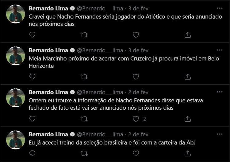 Bernardo Lima's Tweets - Reproduction - Reproduction