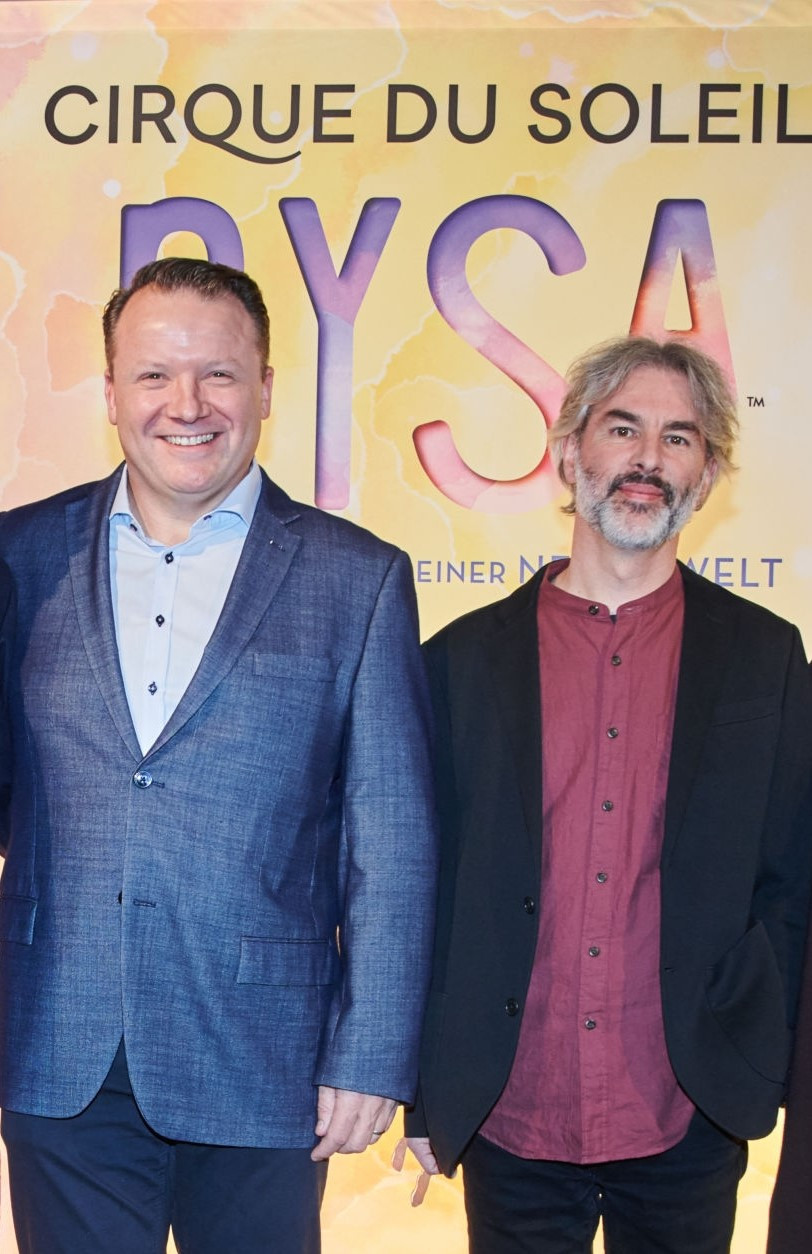 Finn Taylor, left, former show business director for Cirque du Soleil Global Touring, named World Volleyball CEO - Get Images