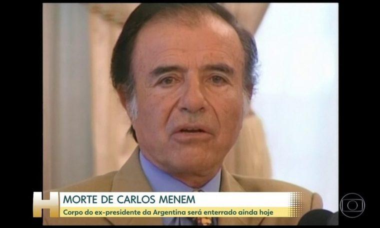 Argentina said goodbye to former President Carlos Menem