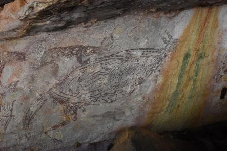 Australia's oldest rock painting is 17,000 years old and a kangaroo (Photo: University of Melbourne)