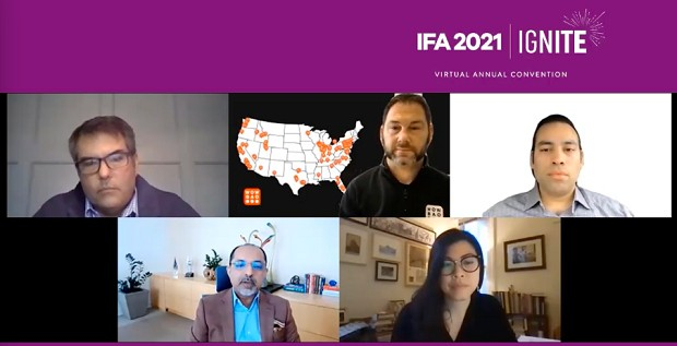 IFA 2021: Aziz Hashim, Geoff Alexander, Barry Thomas, Ashley Tran and Rishi Nigam (Photo: Reproduction)