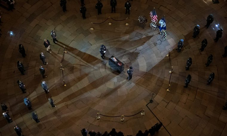 Policeman killed after attack on US Congress honored on Capitol Hill.  world