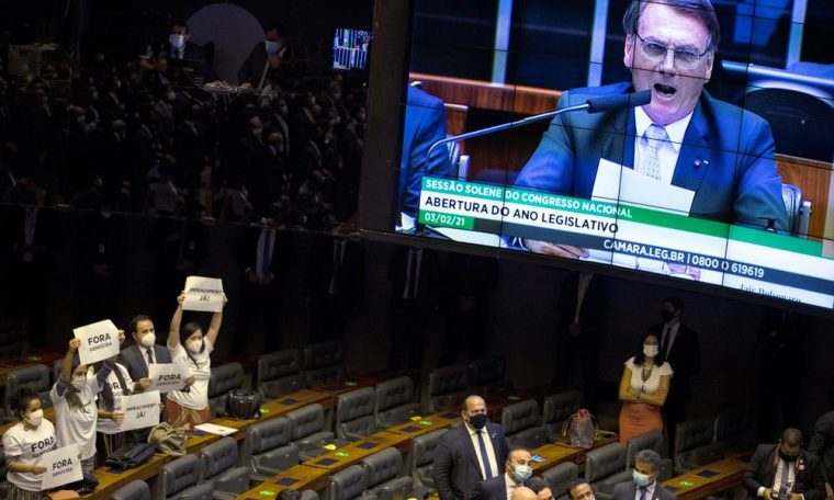 The summit of the new Congress emphasizes the economy, not the ultra-conservative agenda of Bolsonaro.  Present