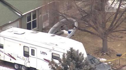 Plane crashes fall near homes in American suburban areas