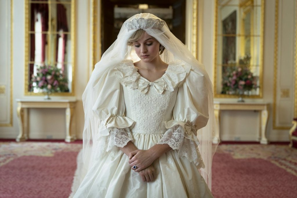Princess Diana wore a wedding dress in the fourth season of The Crown