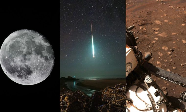 "The sky (no) is the limit.  Moon in the United States, meteorite's ""tail"" and more!"