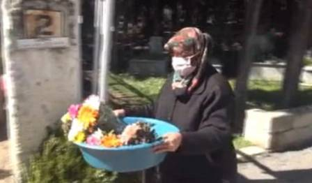 Gullerson sells flowers at the cemetery