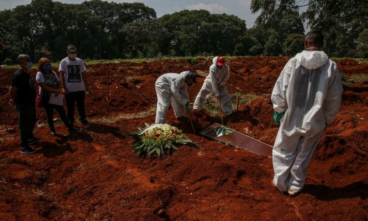 Brazil has more Kovid-19 deaths than countries in Africa.