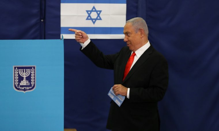 The election ballot box in Israel indicates the loss of Netanyahu.  world