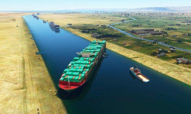 Suez Canal Ship Mod for Microsoft Flight Simulator
