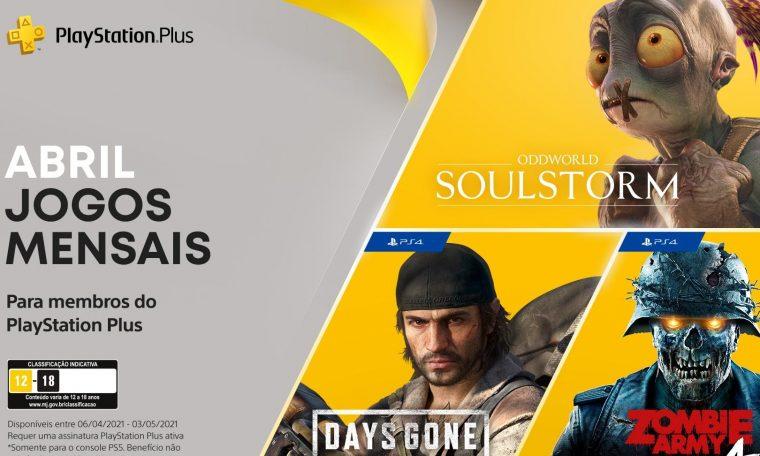 Imagem de: Days Gone, Zombie Army 4 e Oddworld estão na PS Plus de abril