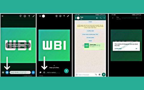 Imagem de: WhatsApp lançará recurso para autodestruição de fotos