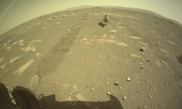 NASA's Ingenuity helicopter successfully lands on Mars surface