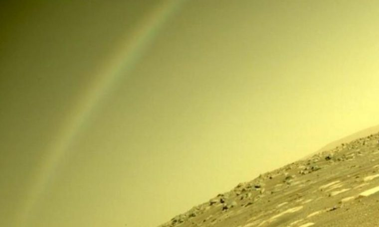 Rainbow on Mars?  Scientists interpret this picture of perseverance.  Video