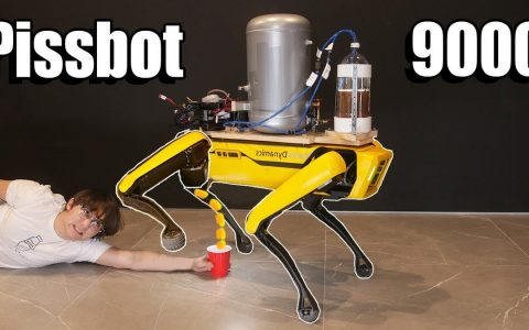 The robot dog urges beer and moves according to the environment;  View |  Technology