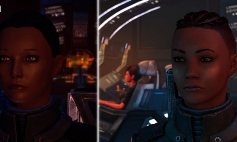 The comparative effects reflect the graphics of the Mass Effect Legendary Edition and the original game in the franchise