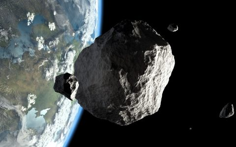 "NASA released photo of ""damage"" to asteroid Bennu by spacecraft"