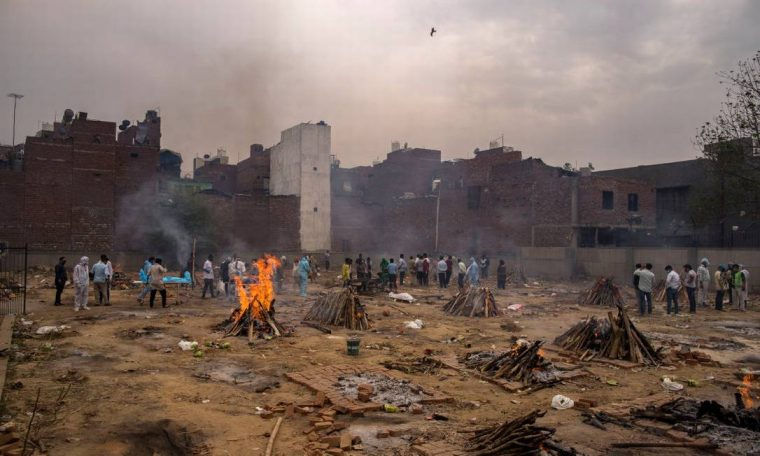 Cremation for victims of Kovid-19 built on wastelands in New Delhi