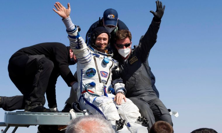 Astronauts returned to Earth after about seven months in the space station.  Science and health