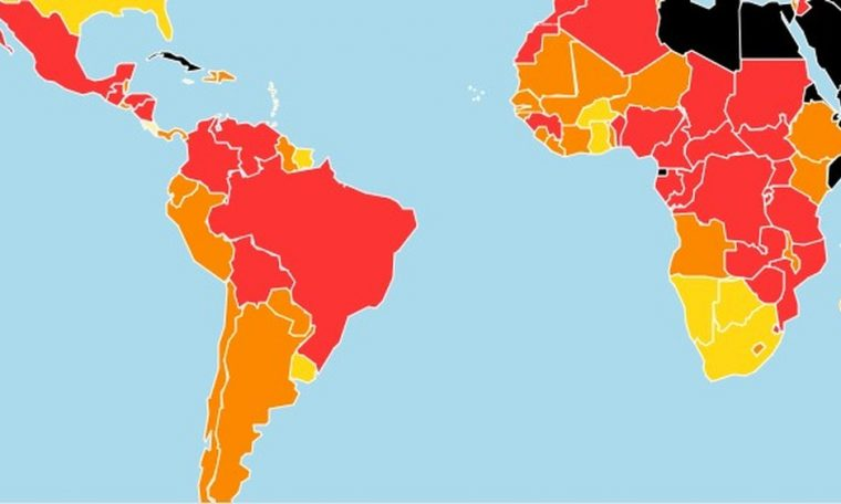 Brazil is ranked four in the Press Freedom Rankings and remains in the red zone.