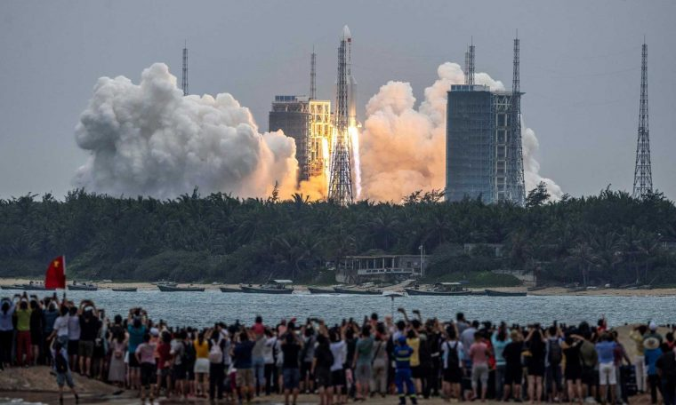 China launched the first module of its future space station.  Science and health