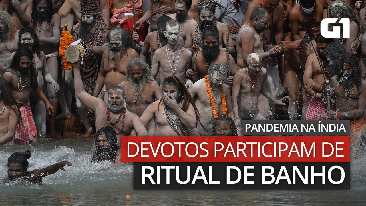 VIDEO: Devotees bathe during pandemic in India