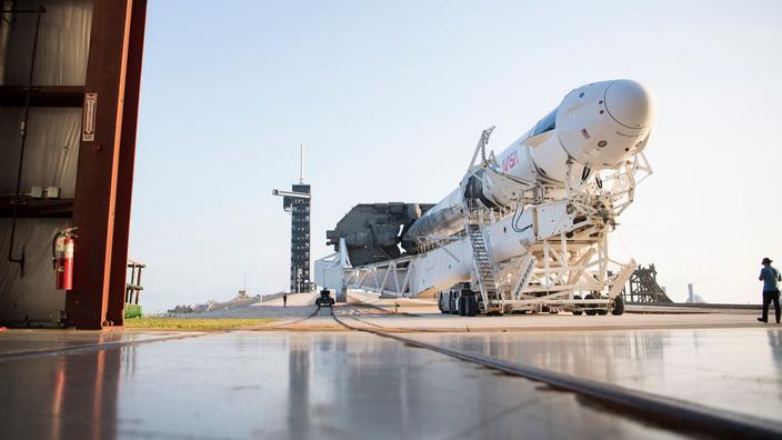Une fusée Falcon9 de Space X, depuis le Kennedy Space Center, en Floride.