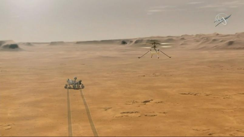 NASA's Ingenuity helicopter made its first flight on Mars on Monday