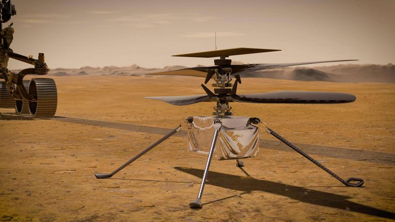 Ingenuity Helicopter ('Simplicity'), partner of the Perseverance Rover