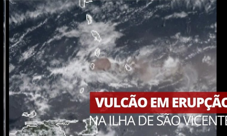 Satellite images capture new emissions from La Saueriere volcano on the island of Sao Vicente