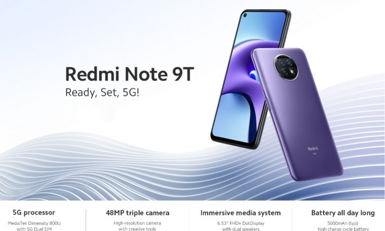 """And Xiaomi and 5G and """"tsampa"""" ... for 181 € !!!  Xiaomi Redmi Note 9T 5G Global 48MP Camera 5000mAh 6.53 Inch 4GB 128GB NFC and Watch Live!"""