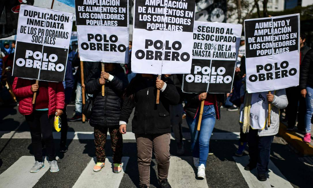 Discontent: In August 2019, in Buenos Aires, protests against the economic policies of the Macri government.  Political frustrations dragged Argentina into an expert's call;  Photo: Ranaldo School / AFP