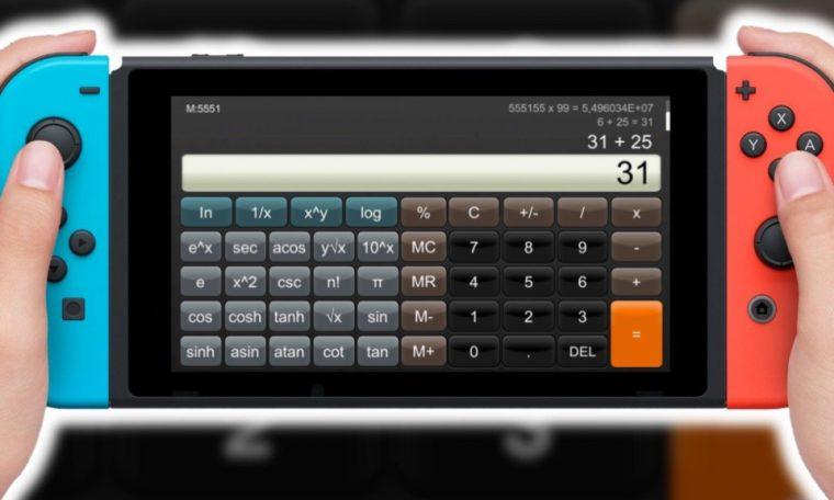 Imagem de: Nintendo Switch: compre o app de calculadora por