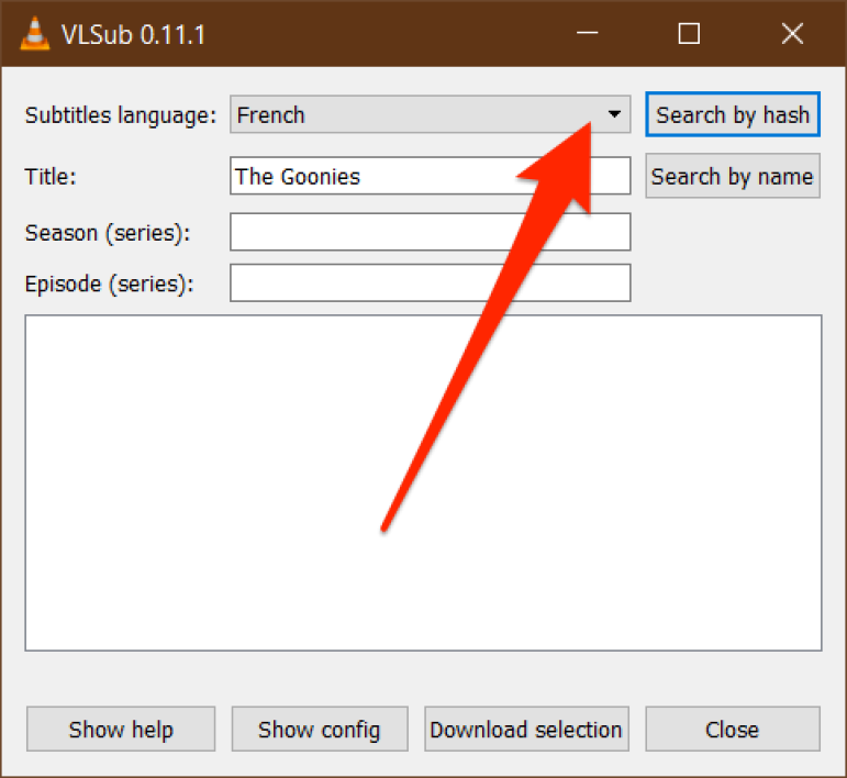 How do I download a movie subtitled in VLC?