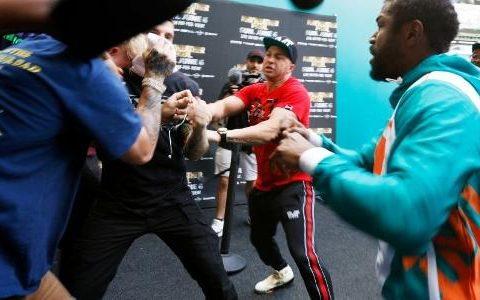 Logan Paul celebrates 'battle between Mayweather and Jake Paul'