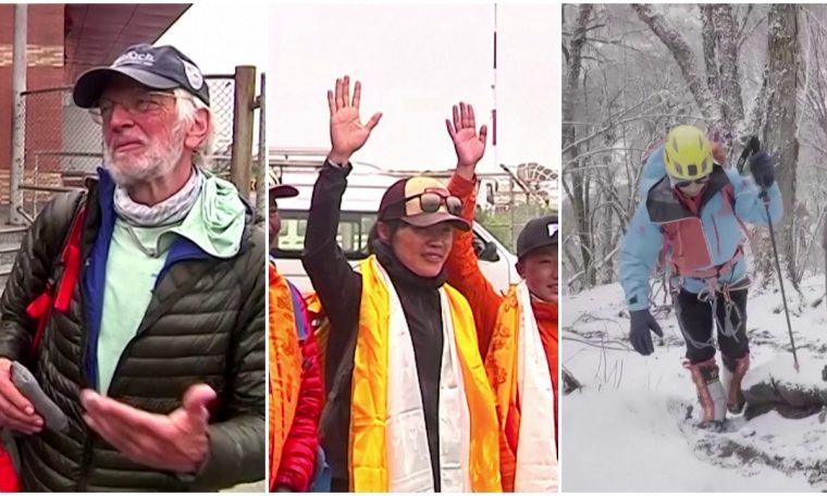 Alpinistas que quebraram recordes retornam do Monte Everest