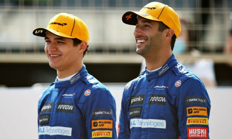 Ricardo and Norris Formula 1 to drive army champion cars in Goodwood